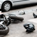 involved in a motorcycle accident